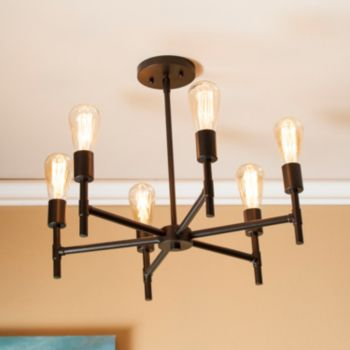Santero 6-Light Contemporary Pendant Chandelier