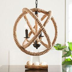 Maybrook 3-Light Rope Orb Pendant Lamp