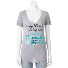 "Juniors' Recycled Karma ""Mermaid Stuff To Do"" Graphic Tee"