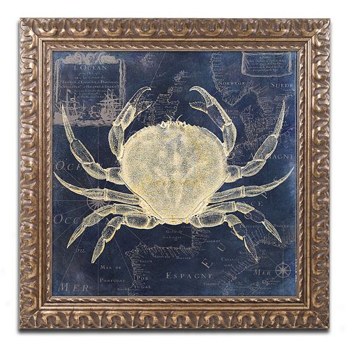 Trademark Fine Art Maritime Blues III Ornate Framed Wall Art