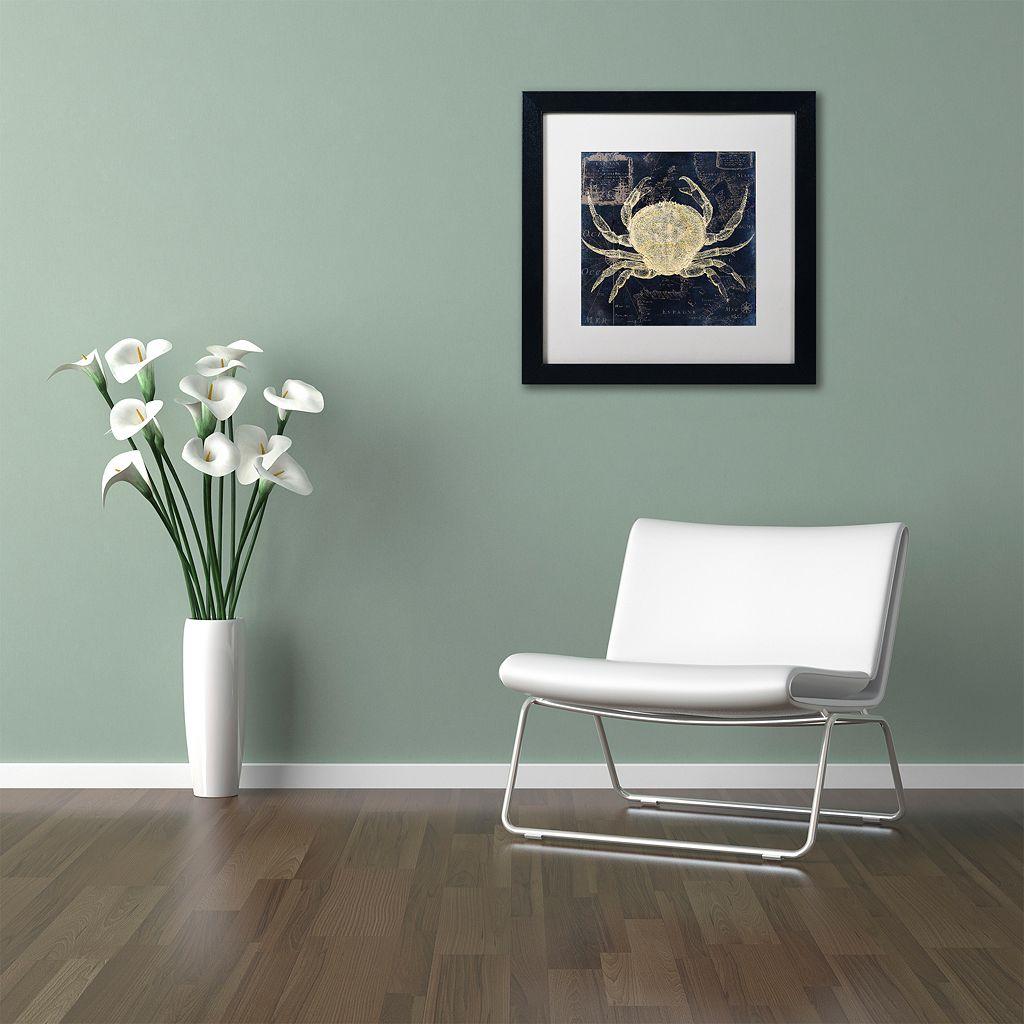 Trademark Fine Art Maritime Blues III Black Framed Wall Art
