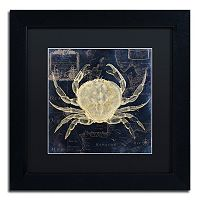 Trademark Fine Art Maritime Blues III Black Framed Wall Art