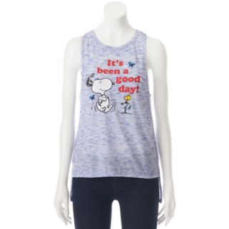 "Juniors' Peanuts Snoopy ""Good Day"" Muscle Graphic Tank"