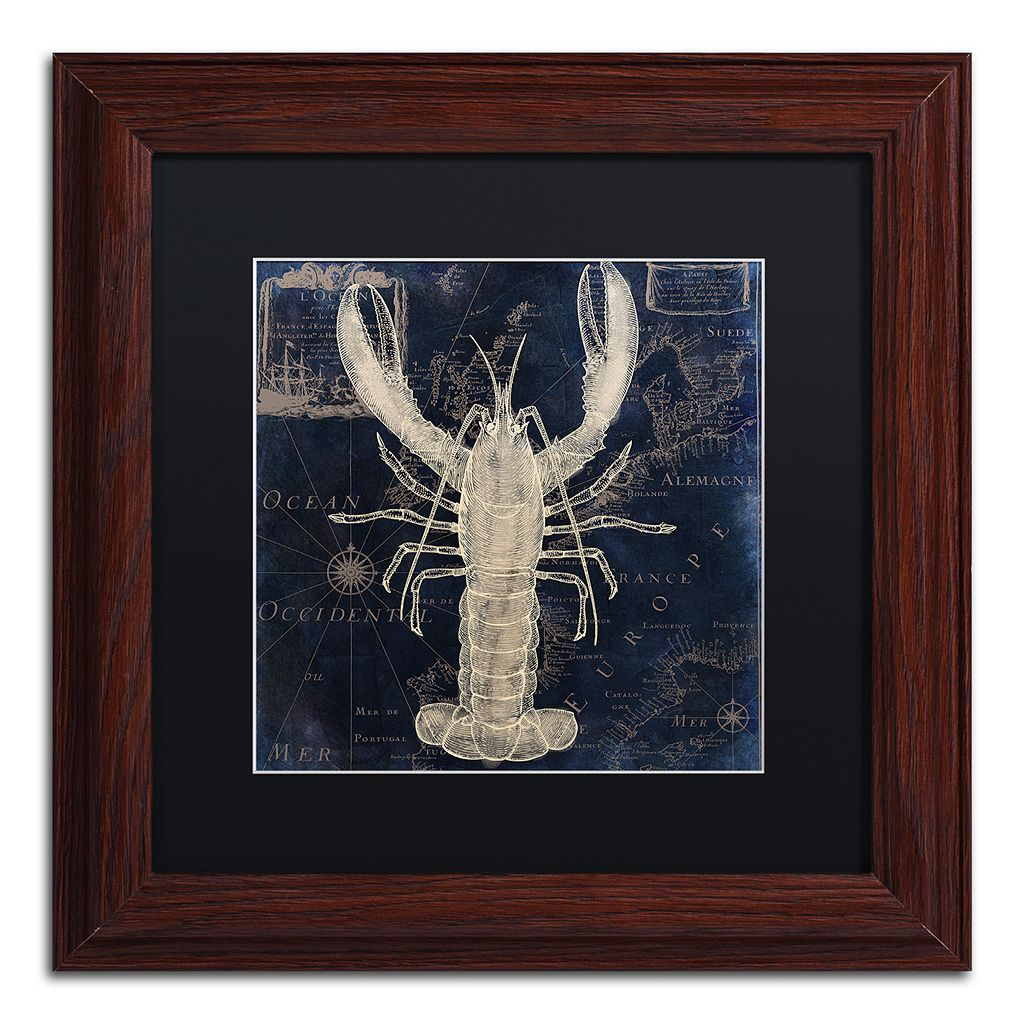 Trademark Fine Art Maritime Blues II Framed Wall Art