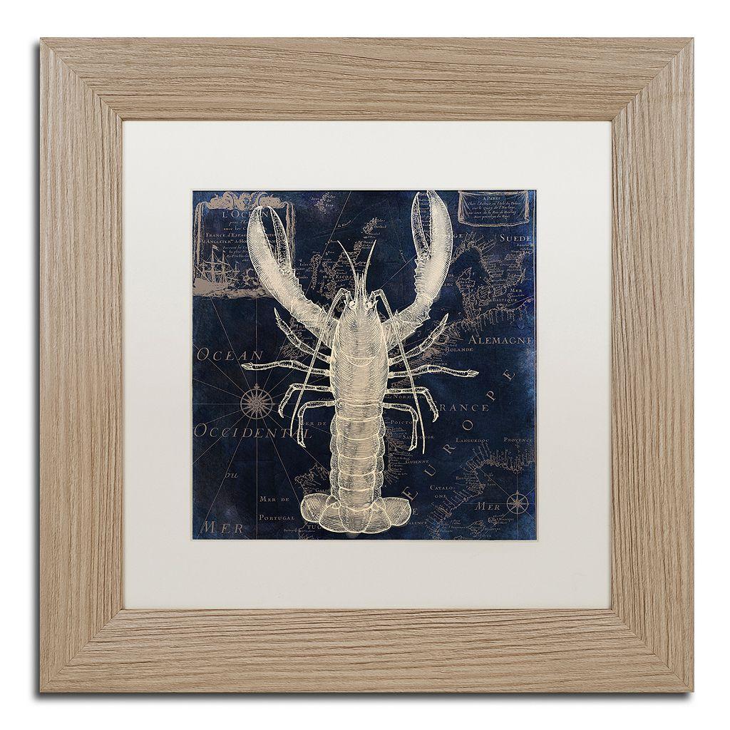 Trademark Fine Art Maritime Blues II Washed Finish Framed Wall Art
