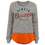 Juniors' Denver Broncos Mock-Layer Tee