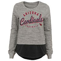Women's Arizona Cardinals Mock-Layer Tee