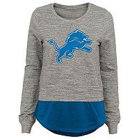 Juniors' Detroit Lions Mock-Layer Tee