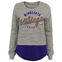 Juniors' Minnesota Vikings Mock-Layer Tee