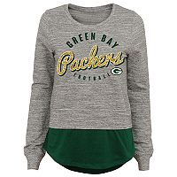 Juniors' Green Bay Packers Mock-Layer Tee
