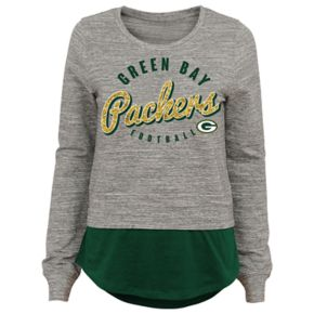 Juniors' Green Bay Packers Mock-Layer Tee