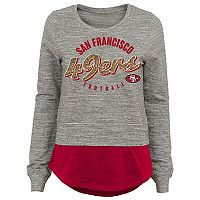 Juniors' San Francisco 49ers Mock-Layer Tee