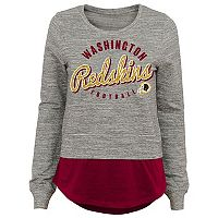 Juniors' Washington Redskins Mock-Layer Tee