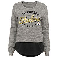 Juniors' Pittsburgh Steelers Mock-Layer Tee