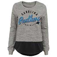 Juniors' Carolina Panthers Mock-Layer Tee