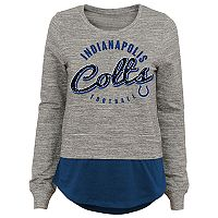 Juniors' Indianapolis Colts Mock-Layer Tee