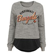 Juniors' Cincinnati Bengals Mock-Layer Tee