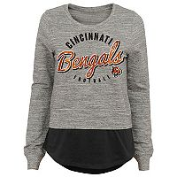 Juniors' Cincinnati Bengals Mock-Layer Tee