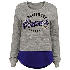 Juniors' Baltimore Ravens Mock-Layer Tee