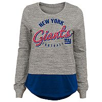 Juniors' New York Giants Mock-Layer Tee