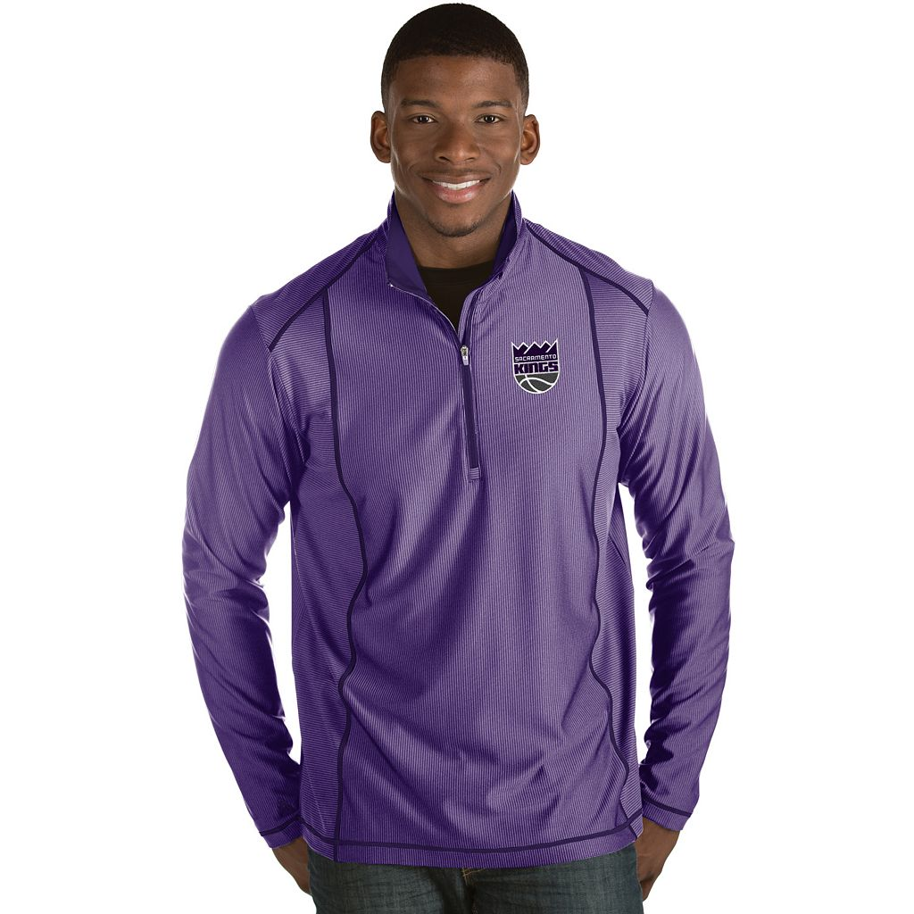 Men's Antigua Sacramento Kings Tempo Quarter-Zip Pullover