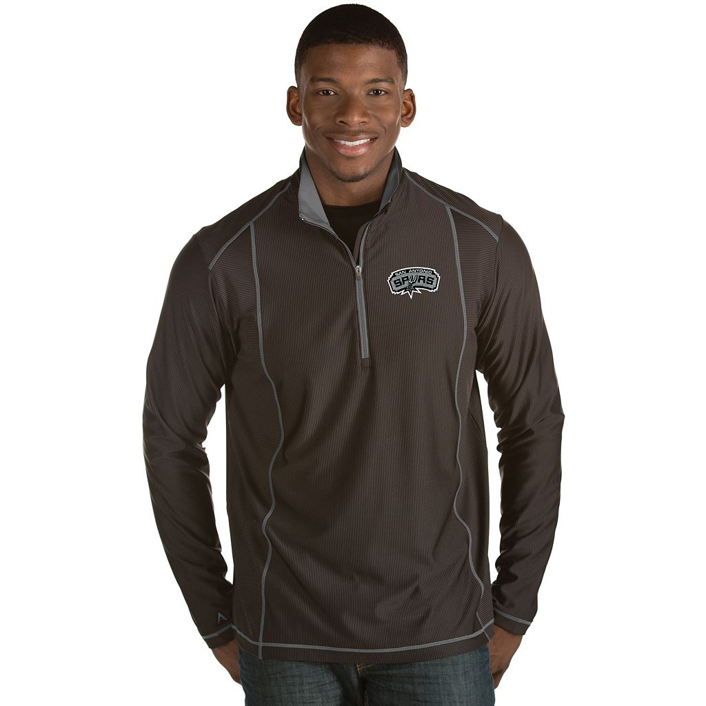 Men's Antigua San Antonio Spurs Tempo Quarter-Zip Pullover