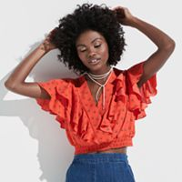 k/lab Ruffle Crop Top