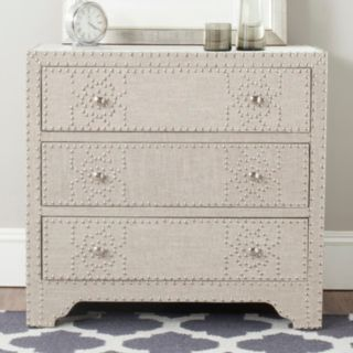 Safavieh Gordy Linen 3-Drawer Dresser