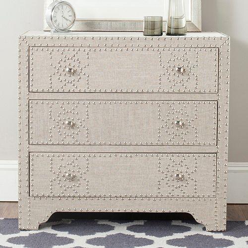Safavieh Gordy Linen 3-Drawer Dresser