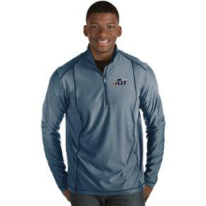 Men's Antigua Utah Jazz Tempo Quarter-Zip Pullover
