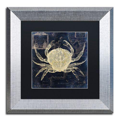 Trademark Fine Art Maritime Blues III Silver Finish Framed Wall Art