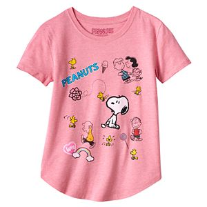 Girls 7-16 & Plus Size Peanuts Characters Graphic ...