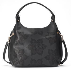 Mellow World Brienne Floral Perforated Hobo!