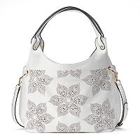 Mellow World Brienne Floral Perforated Hobo