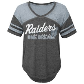 Juniors' Oakland Raiders Football Tee