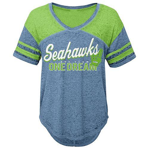 Juniors' Seattle Seahawks Football Tee
