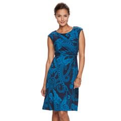 Petite Dana Buchman Twist-Front Dress