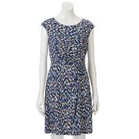 Petite Dana Buchman Twist-Front Dress