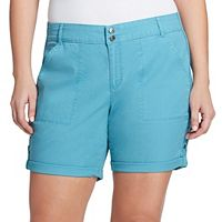 Plus Size Gloria Vanderbilt Maren Twill Shorts