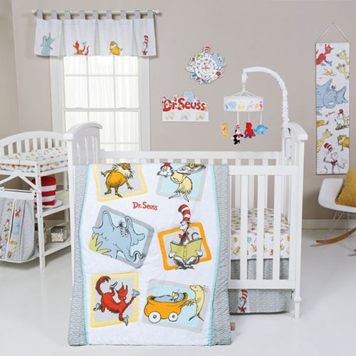 Dr Seuss Friends 5 Pc Crib Bedding Set By Trend Lab