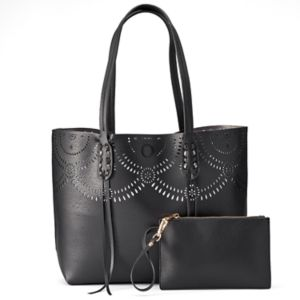 Mellow World Brooklyn Reversible Perforated Tote with Pouch!