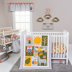 Trend Lab Olive Owl 5 pc Crib Bedding Set
