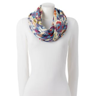 Chaps Ikat Patchwork Infinity Scarf