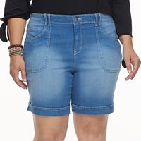 Plus Size Gloria Vanderbilt Keegan Jean Shorts