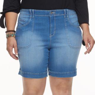 Plus Size Gloria Vanderbilt Keegan Jean Shorts