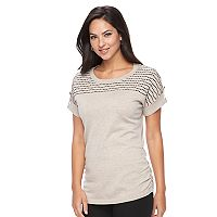 Women's Apt. 9® Wavy Striped Ruched Sweater