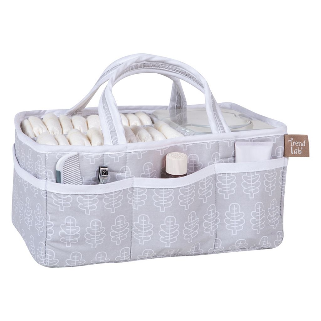 Trend Lab Gray Leaf Storage Caddy
