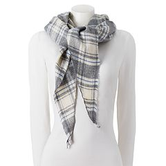 Chaps Plaid Diamond-Shaped Wrap Scarf