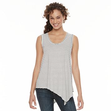 Women's Apt. 9® Striped Asymmetrical Tank