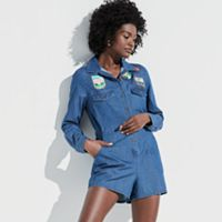 k/lab Patched Denim Romper